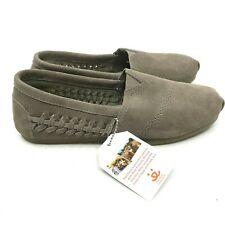 NEW Skechers BOBS Women's Slip-On Shoes Beige Suede Memory Foam Size 8  [S2]