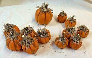 Tiny Pumpkins/Fall/Orange/Set of 12/Grunged/Farmhouse/Halloween