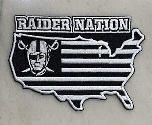 Las Vegas OAKLAND RAIDERS Raider Nation Iron-on PATCH! PREMIUM