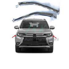 2pc LH+RH Chrome Strips On Front Bumper Top o For MITSUBISHI OUTLANDER 3 2016-19