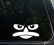 Perry the platypus - funny cartoon decal / sticker phineas and ferb