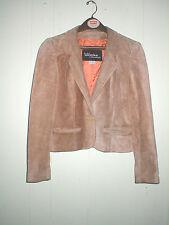 Vtg 70'S Wilson'S Suede Leather Short Jacket Women'S Size 13 Beige Tan Hippie