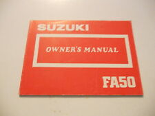 Suzuki Owners Manual 1987 FA50