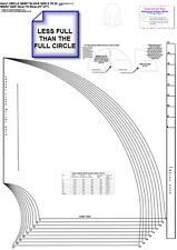 Full Circle y de media falda de círculo Set-Tamaños de 8 a 22 Sloper-Moda Bloque Patrón