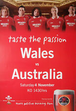 Wales v Australia 2006 Match Advertising Rugby Poster