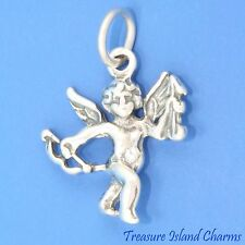 CUPID with LOVE BOW and ARROW Cherub Angel 3D .925 Solid Sterling Silver Charm