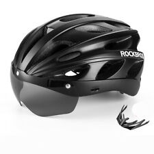 ROCKBROS Cycling Bicycle Protective Helmet with Polarized Sunglass and Visor