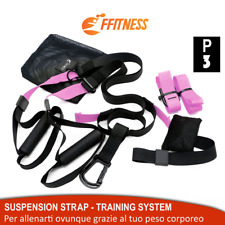 SUSPENSION STRAP CINGHIE ALLENAMENTO RESISTENZA IN SOSPENSIONE FITNESS TRAINER R