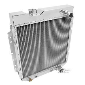 """1964-1966 4 Row 17"""" Wide Core Ford Mustang Champion Cooling Aluminum Radiator"""