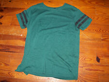 Women's Juniors FOREVER 21 Solid Green Cotton Casual Tee Shirt Size XS