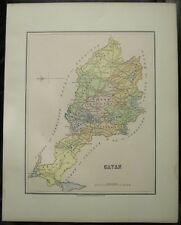 "Irish Map County CAVAN Baronies Ireland Thomas Kelly Russell 1882 6.75"" x 8.5"""