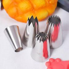4x Large Size Icing Piping Nozzles Tips Pastry Cake Sugarcraft Decorating Set~