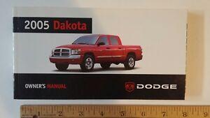 2005 DODGE Dakota - Original Owner's Manual Guide