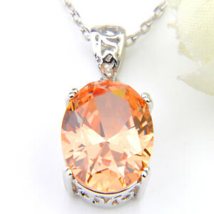 60% Off Classic Fire Brazil Citrine 925 Silver Necklaces Pendants for Holiday