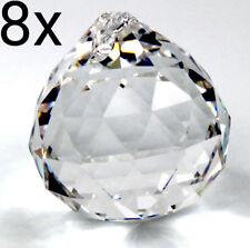 8 Stück Kristallkugeln mit Loch zum Aufhängen 20mm Bleikristall Prisma Feng Shui
