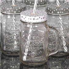 24 Longdrinkgläser mit Trinkhalm, Smoothie Cocktail Glas, Vintage Country Becher