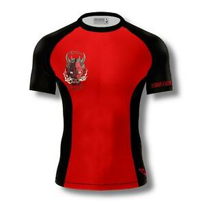 ZENKO FIGHTWEAR Oni Demon Rashguard MMA BJJ Kids/Adult Short Sleeve Compression