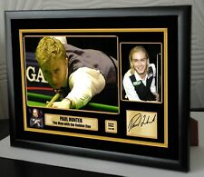 "Paul Hunter Golden Cue Snooker Framed Canvas Print Signed.""Great Gift"""