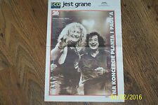 PAGE - PLANT (LED ZEPPELIN) - CONCERT IN POLAND 1998 (xerox / 8 pages / A3 size)