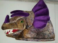 Dragon Hat Head little daydreamers Elope Hand Puppet Halloween Costume