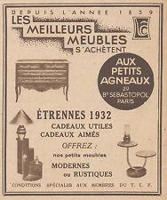 Z8597 Meubles AUX PETITS AGNEAUX - Pubblicità d'epoca - 1931 Old advertising