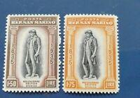 San Marino 1935 Melchiorre Delfico n. 203/204 MNH ** perfetti