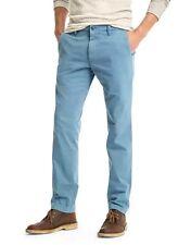 Gap Mens Vintage Washed Slim Fit Khakis Pants Light Blue 34x30 #178204