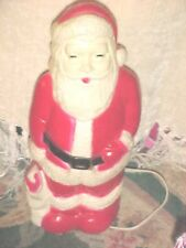 """Vintage Santa Blow Mold Light Up Plastic Christmas 17"""" WORKING UNION PRODUCTS"""