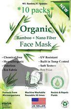 Up 20PCs Natural Bamboo Fiber Face Mask Adult, Anti-Droplets, Ag+ Nano Coated
