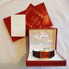 CARTIER TANK MUST Vintage '80 Lady Gold FULL SET watch