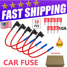 5 Set Add Circuit ACU Piggy Back Tap Standard Blade Fuse Holder 10A Mini Size