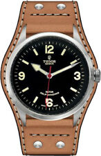 100% AUTHENTIC NEW TUDOR HERITAGE RANGER BROWN LEATHER STRAP WATCH M79910-0002