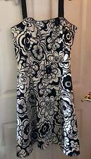 Spense Petite- 14P- Black & White Strapless Dress-removable Straps- NWT