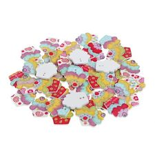 50Pcs Wooden Cupcakes Buttons Scrapbooking Sewing Crafts Decorations 2 Holes