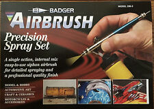 Badger BA2003 (BA200-3) Siphon Feed 200 Precision Airbrush Set NIB