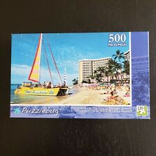 Puzzlebug Jigsaw Puzzle 500 Pieces Catamaran On The Beach Waikiki Hawaii Sealed