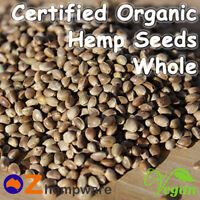HEMP SEEDS WHOLE CERTIFIED ORGANIC VEGAN FOOD 500g, 1kg, 2kg, 4kg
