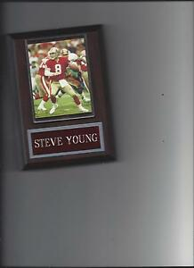 STEVE YOUNG PLAQUE SAN FRANCISCO 49ers FORTY NINERS FOOTBALL NFL
