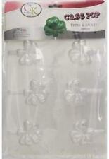 SHAMROCK Cake Pop press Chocolate Candy Mold - Pack of 3