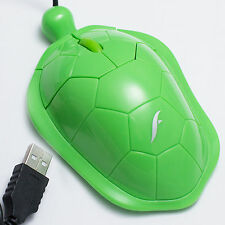 Frisby Optical Mouse Turtle Style Computer PC Desktop Notebook 3D USB Mice New