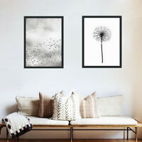 Nordic Modern Canvas Art Poster Wild Geese Dandelion Painting Home Wall Picture