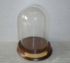 "Decorative 5"" Wood and Glass Domed Display Case for Collectibles / Models"