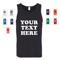 PERSONALIZED CUSTOM PRINT YOUR OWN TEXT ON A TANK TOP T-SHIRT CUSTOMIZED MEN'S