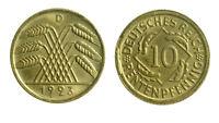 s289_67) GERMANIA GERMANY 10 RENTENPFENNIG 1923 D