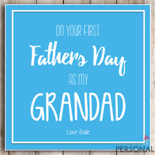 Personalised 1st Fathers Day Card As My Grandad Grandpa First Father's Day Card