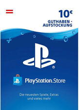 AT €10 PLAYSTATION NETWORK Prepaid Card 10 EUR PSN PS3 PS4 PSP Key Österreich