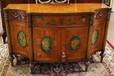 Best Satinwood French Figural Paint Decorated Commode Server Buffet Sideboard