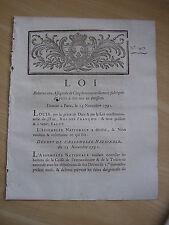 LOI relative aux assignats de 5 livres nouvellement fabriqués 1791