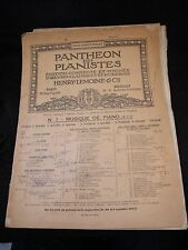 Partition Pantheon des pianistes N° 14 Beethoven Music Sheet