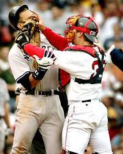 ALEX RODRIGUEZ JASON VARITEK 8X10 PHOTO RED SOX YANKEES NY BASEBALL MLB PICTURE